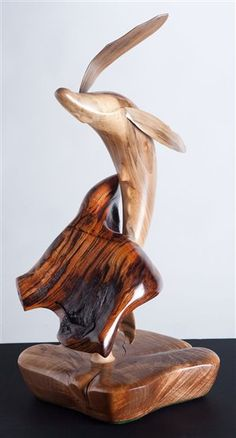 "*Wood Scupture - ""Breaching Whale"" by Virgil R. Krueger"