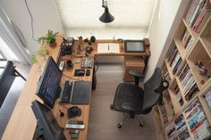 Home Office Setup, Guest Room Office, Home Office Space, Men's Home Offices, Room Setup, Office Interior Design, House Design, Studio Room, Workspace Inspiration