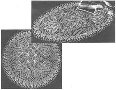 Glockenblume - Round And Oval Doilies In Knitted Lace By Herbert Niebling - PDF - A4 (European) Paper Size