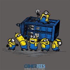 Minions have the Phonebox by Onebluebird Shirt on sale until 09 April on http://othertees.com #doctorwho #minions