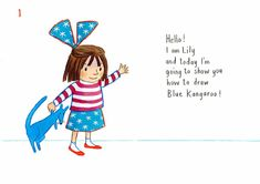 How to draw… blue kangaroo | Children's books | The Guardian Writing Advice, Writing Prompts, Foundation Stage, Book Sites, You Draw, The Guardian, Kangaroo, Childrens Books, Lily