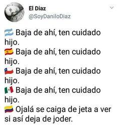 Publicación de Instagram de Chistes Colombianos • Abr 25, 2018 at 2:22 UTC Funny Spanish Memes, Spanish Humor, Stupid Memes, Dankest Memes, Jokes, Teen Slang, Funny Images, Funny Pictures, I Started A Joke