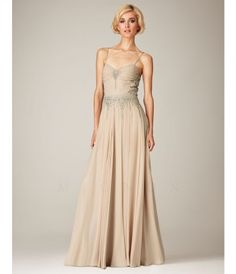 Please allow a 4 day handling time for this dress. Full length gown with spaghetti straps, illusion low back, beaded ce....Price - $558.00-pHnrthZ3