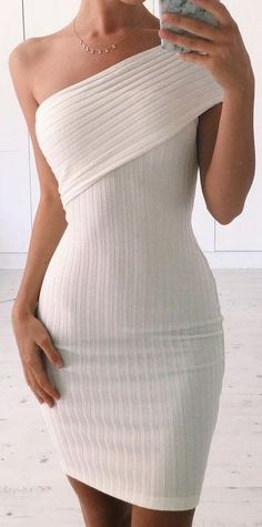 One Shoulder Dress                                                                             Source