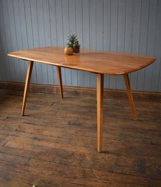 Vintage Ercol Plank Top Blonde Dining Table Kitchen Great Condition CAN DELIVER