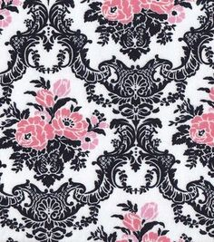 Snuggle Flannel Fabric- Floral Damask
