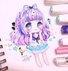 I love pastel colors #chibibunny #chibi #chibigirl #chibidrawing #cute #kawaiigirl #pastel  #drawing #illustration #artist #artwork #doodle #animegirl #mangagirl #fairykei #pastelgoth #originalcharacter