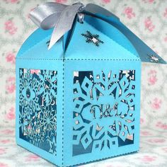 20x Snowflake Winter Wedding Favours Winter Wedding Favour Boxes Laser Cut Personalised Favours By TheCrossEyedFox, £18.00