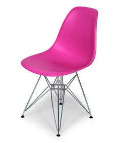Look at this Dark Pink Mid-Century Eiffel Dining Chair on #zulily today!