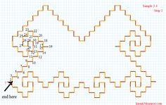 Kasuti Embroidery Tutorial: Free Online Kasuti Embroidery Tutorial Sample 3.4 - Conch Shell Border
