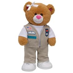 """This is the Build-A-Bear that Maggie already has (the 100th Anniversary bear in the Cadette/Senior/Ambassador Uniform).  We named her Daisy and put in the """"Girls Just Want to Have Fun"""" song in her hand.  Maggie LOVES it!  We also added a matching hat. ;-)"""