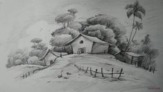 Charcoal pencil drawing landscape sketch draw charcoal scenery how to draw easy and simple landscape Easy Pencil Drawings, Beautiful Pencil Drawings, Pencil Drawings Of Nature, Pencil Drawings For Beginners, Easy Drawings Sketches, Pencil Drawing Tutorials, Simple Drawings Of Nature, Simple Sketches, Pencil Sketching