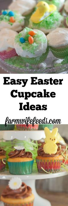 These easy Easter cupcake ideas are two easy super cute recipes that impress everyone!