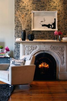 gorgeous everything around the fireplace