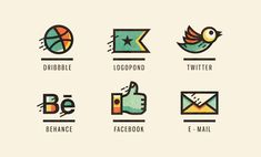 social icon, icons, facebook, dribble, twitter, email