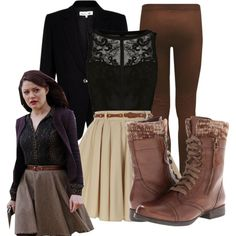 """Belle OUAT"" by disneymouseketeers on Polyvore--don't usually pin these but she is awesome"