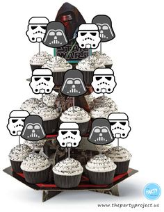 Featured ETSY Products Birthday Party Ideas for Kids and Adults - Star Wars Printables - Ideas of Star Wars Printables - DIY PRINTABLE Stormtrooper Darth Vader cupcake toppers Adult Birthday Party, Star Wars Birthday, Birthday Party Themes, Birthday Wishes, Star Wars Cupcake Toppers, Star Wars Cupcakes, Theme Star Wars, Star Wars Baby, Meninas Star Wars