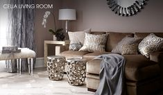 Living Room - Champagne, grey, taupe, gold, silver...