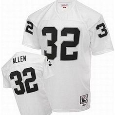 b13340b7f Classic Marcus Allen  32 Oakland Raiders Men s Unsigned Custom Football  Jersey -White Throwback Jersey