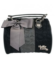 aec411e895 Hello Kitty Quilted Black Grey Duffle Hello Kitty Bag