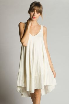 Joan Baez Hemp Dress by Groceries Apparel | Loose and sexy, this essential summer dress is Made in America from unprocessed and highly renewable hemp so that you don't have to feel anything but comfortable. Available at Bead & Reel