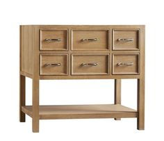 """RonBow 052736 Newcastle 36"""" Hardwood Vanity Cabinet Only with Six Drawers and Bo Vintage Honey Fixture Vanity Single"""