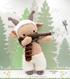 Amigurumi Pattern Premium: The Little Satyr Xylon - Tarturumies