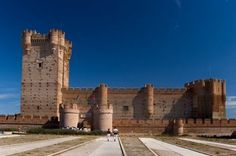 Castles of Spain - Castillo de la Mota. Valladolid Spain. The Castle of the La Mota is a medieval fortress, located in the town of Medina del Campo, Initial fortification of the village, repopulated after Moorish depredations, led to the creation of a fortress on the site, starting in 1080. In 1354, Henry of Trastamara is known to have taken the fortress by force. In 1390 King John I of Castile granted the town to his son, the infante Ferdinand of Antequera, future king of Aragon.
