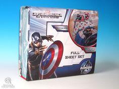 Captain America Sheet Set Full Sized Bedding Marvel Superheroes Winter Soldier #Marvel #Superhero