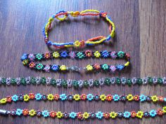 Seed bead + fishing line + clasp