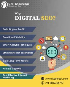 Need Better SERP Ranking? The SEO Wizard Is Here to Help At #SKPGlobal, we consider SEO as an art. It is a bag of smart tricks and we master it by walking ahead of the changing algorithms of search engines. Our intrinsic digital marketing services are the one you need to dash to the top and rule the rankings. Get in touch with us today! Call: 8807206777 Online Marketing Strategies, Digital Marketing Services, Seo Consultant, Best Seo Services, Brand Promotion, Reputation Management, Search Engine Optimization, Internet Marketing