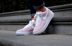 Nike Air Force 1 Flyknit Low White/white-radiant emerald - 820256-102
