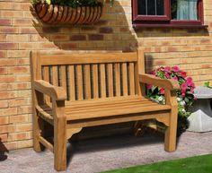 Balmoral 4ft Teak Park Bench #benches #teak #corido #gardenfurniture