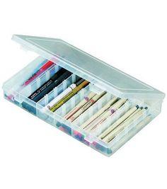Flambeau ArtBin Solutions Box - Six Compartments Scrapbook Box, Scrapbook Storage, Scrapbook Organization, Craft Storage, Makeup Organization, Stationary Organization, Paint Storage, Scrapbooking, Office Organization