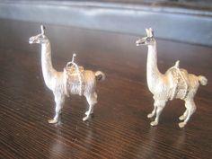 RARE Vintage Set of 2 Sterling Silver Alpaca Animal Figurines Statues Peruvian   eBay