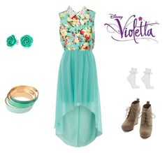 """Violetta - Codigo amistad"" by cubed-debuc ❤ liked on Polyvore featuring Topshop and Bling Jewelry"