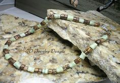 Mens Jasper and Wood Necklace Man Jewelry Yoga by IDJewelryDesigns