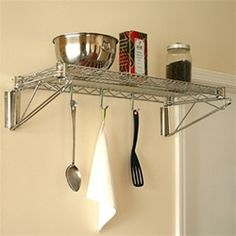 """18""""d Wall Mounted Wire Shelving Kits, Wall Shelves- SI brand"""
