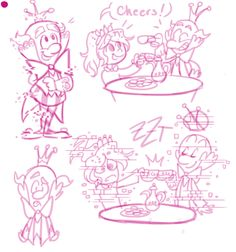 Von Schweetz family sketches - Artist Headcanon: King Candy was an actual character, and Vanellope brings him back after the movie.