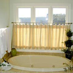 Bathroom Design Ideas Love The Half Curtain