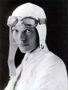 Amelia Earhart-  First woman to receive the U.S. Distinguished Flying Cross, first woman to fly solo non-stop across the Atlantic, the first person to fly solo from Honolulu, Hawaii to Oakland, California.