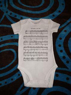 HEY JUDE, The Beatles, Music Sheet, One-Piece Bodysuit, Onesie Toddler T-Shirt