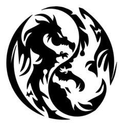 yin and yang dragons - My favorite, so far.