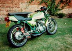 This is my old Kawasaki KH 500 Special that was used by the previous owner as a pro-stock drag bike.