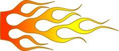 Racing Flame clip art