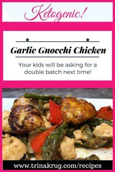 Easy Keto Recipe Gnocchi Chicken - Trina Krug | Pin now, Make later! | Keto diet | Ketogenic Diet | www.trinakrug.com/recipes