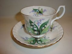 Royal Albert Cup and Saucer Lilly of the Valley Cheverell