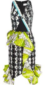 Peter PilottoRuffled silk-blend satin-twill dress