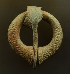 Viking age / Viking age decorated pennanular brooch, 35 mm wide, from Staraia Ladoga on the Russian trade route.
