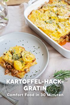 Kartoffel-Hack-Gratin - List of the best food recipes Kitchen Stories, Le Diner, Comfort Food, Salad Ingredients, Curry, Dinner Recipes, Food And Drink, Yummy Food, Hacks